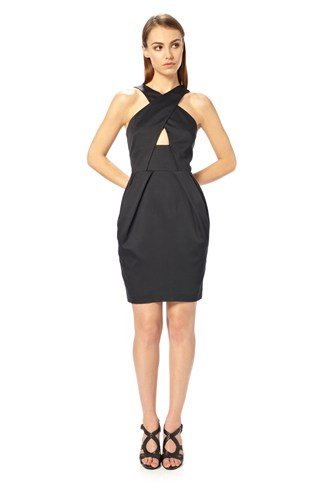 Nico Satin Halter Dress