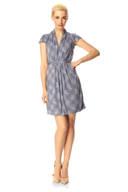 French Connection Jersey Tie Dress Blue