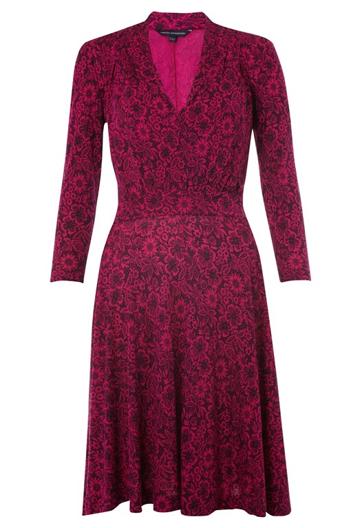 Clemency Lace Print Dress