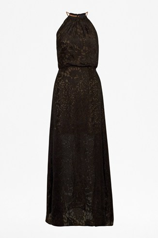 Cora Devore Halter Maxi Dress
