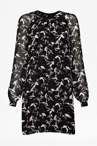 Hatched Horses Tunic Dress