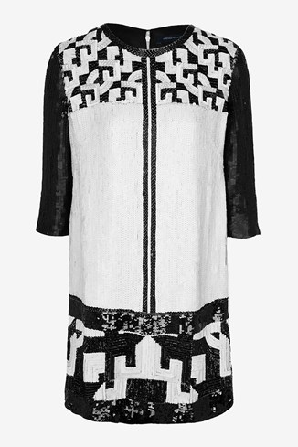 Geomaze Beaded Tunic Dress