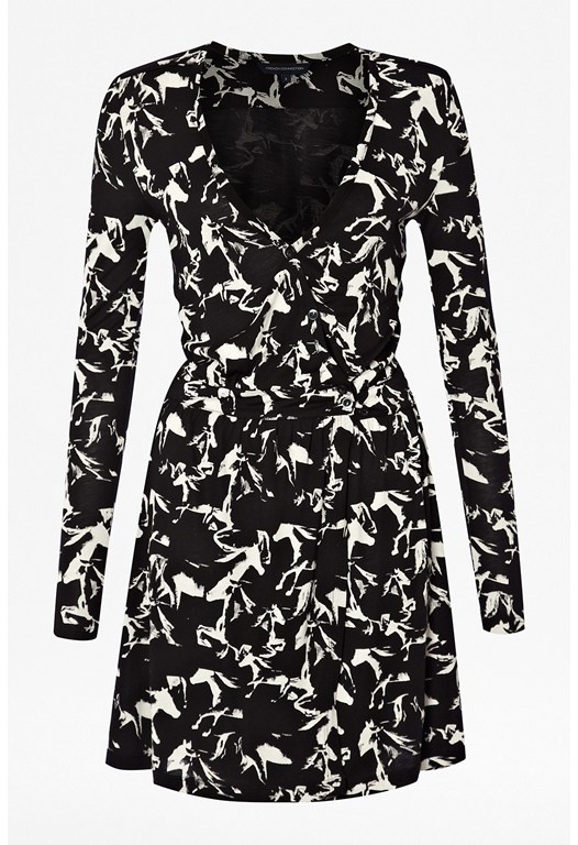 Hatched Horses Jersey Dress