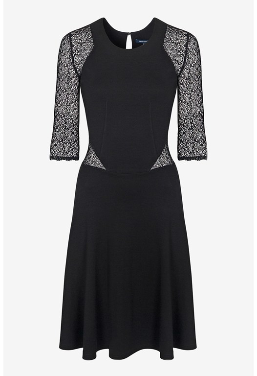 Vienna Lace Jersey Dress
