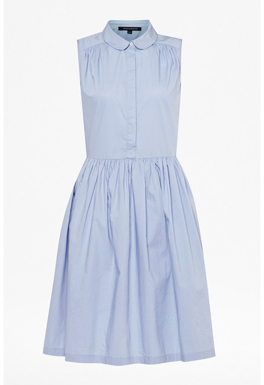 Plain Bloom Sleeveless Shirt Dress
