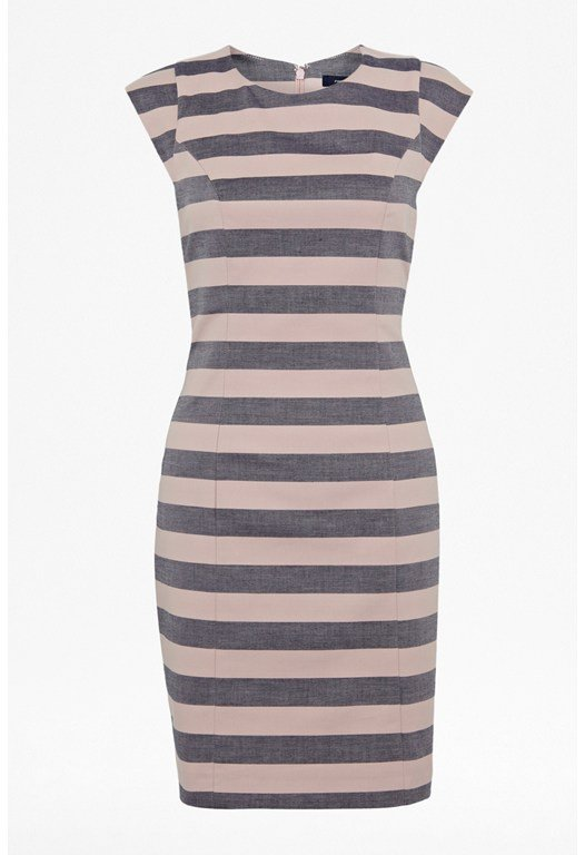 Super Stripe Capped Sleeve Dress