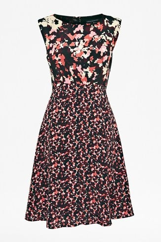 Woodland Confetti Crepe Dress