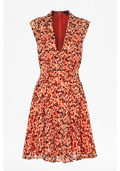 Pebble Petal V-Neck Flared Dress