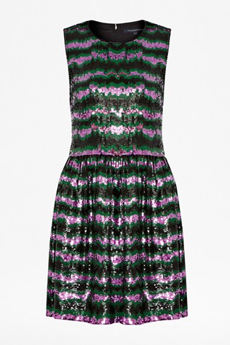 Siberian Stripe Sequin Dress