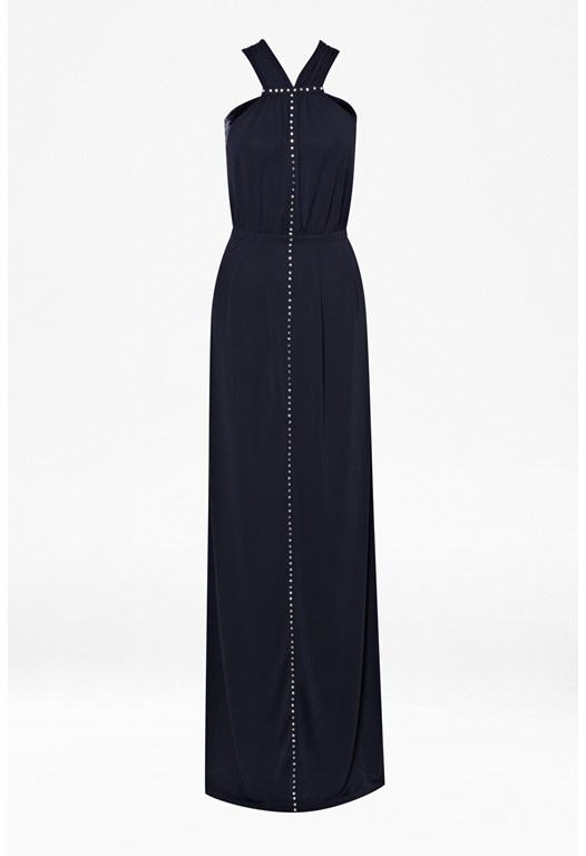 Winter Crystal Maxi Dress