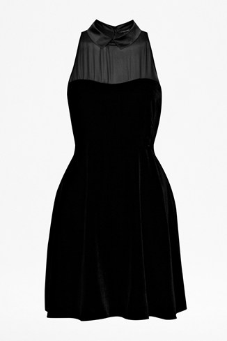 Vivienne Velvet Collared Dress