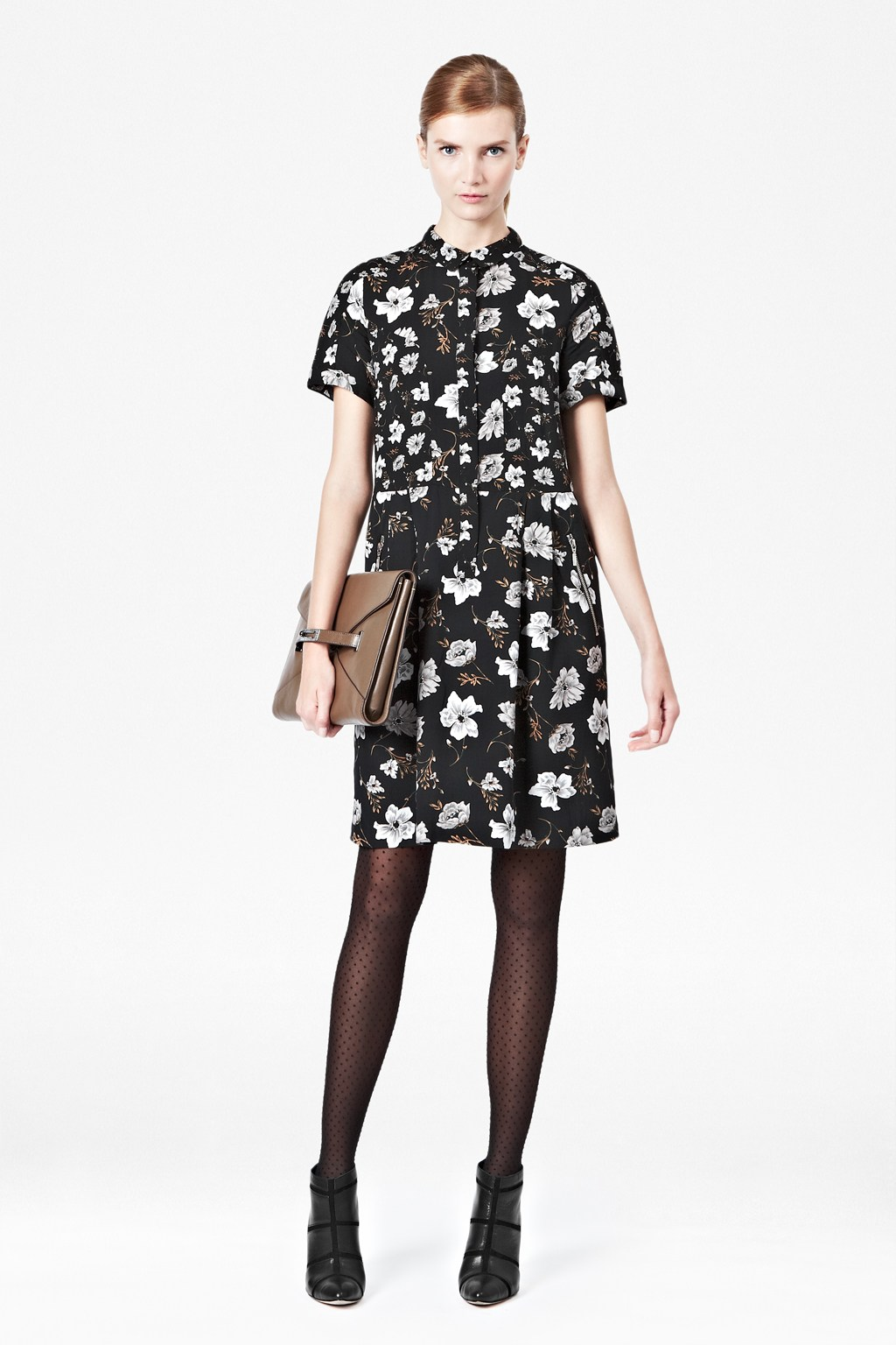 Bloomsbury floral shirt dress woman old season french for French connection t shirt dress