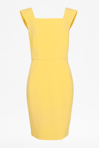Feather Light Boat Neck Midi Dress