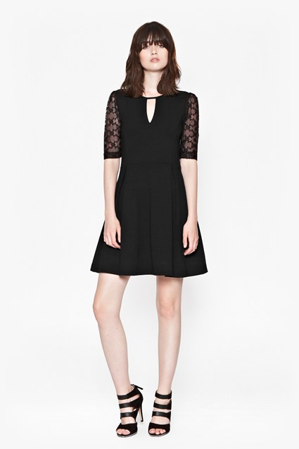 Valentine Viscose Lace FlareDress