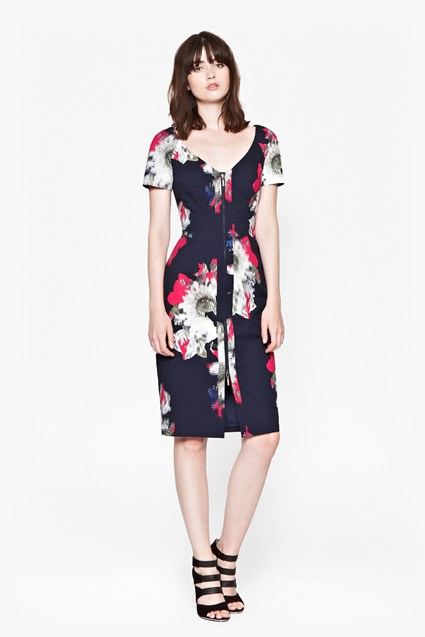 Wilderness Bloom V-Neck Dress