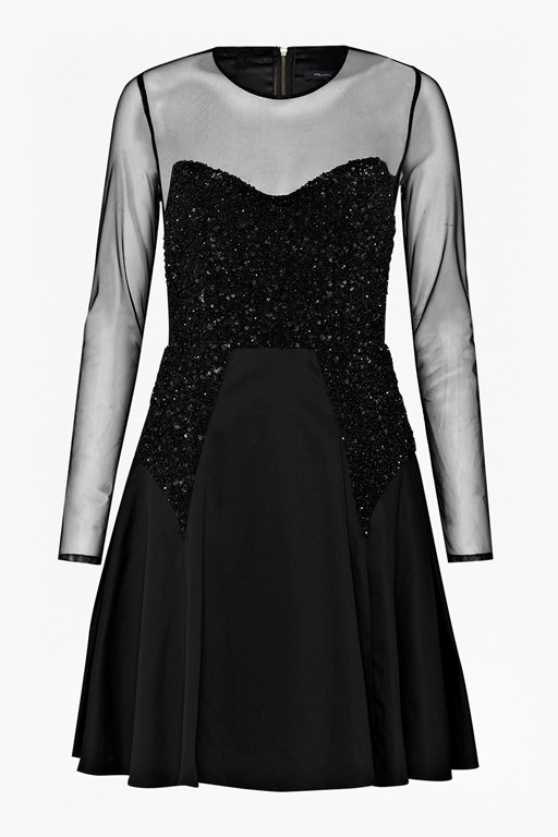 moondust sheer sequinned dress