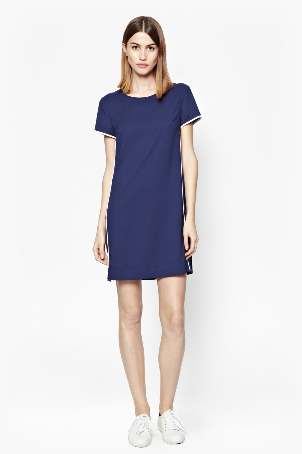 Polly Piping T Shirt Dress Dresses French Connection
