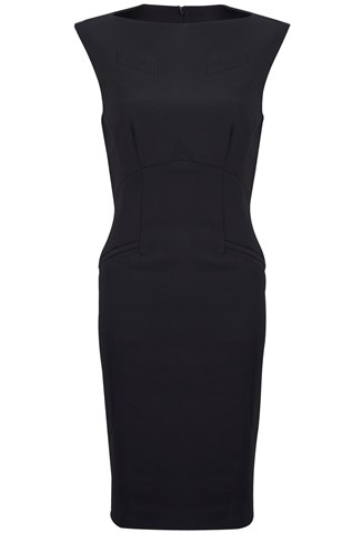 Alma Stretch Slash Neck Dress