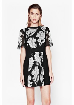 Shadow Bloom Flared Dress