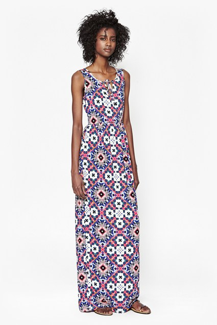 Electric Mosaic Maxi Dress