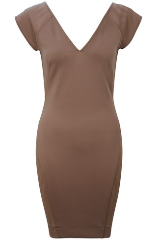 Rita Mix Jersey V Neck Dress