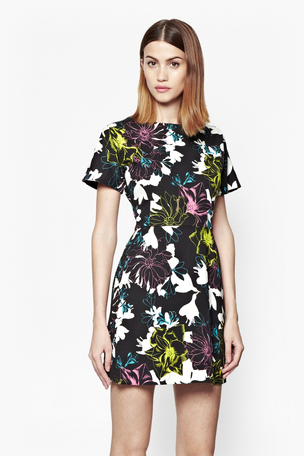 Botanical Trip Floral Stretch Dress Collections French