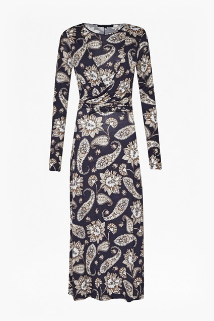 Sundown Jersey Paisley Wrap Dress