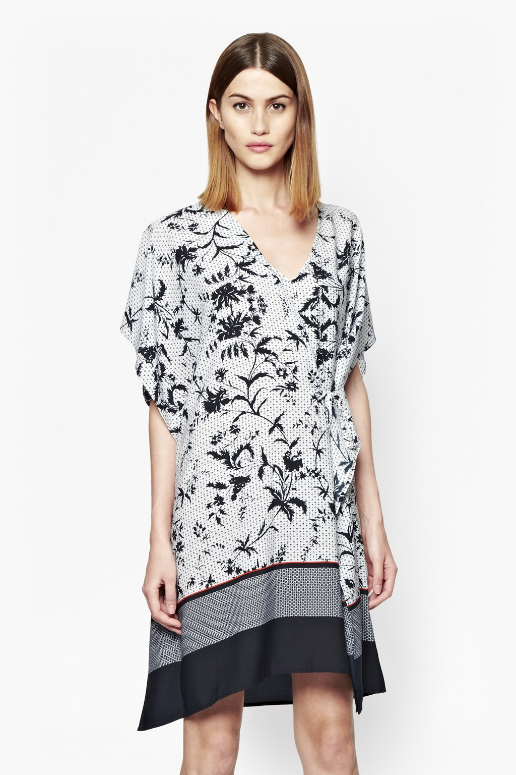 Imperial print and colour block tunic sale french for Imperial printing