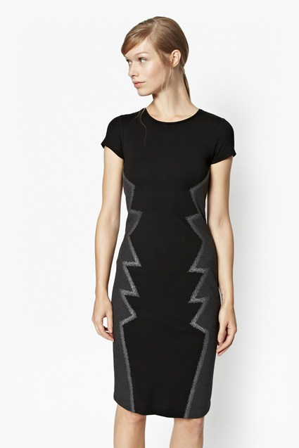 Seattle Zig Zag Bodycon Dress