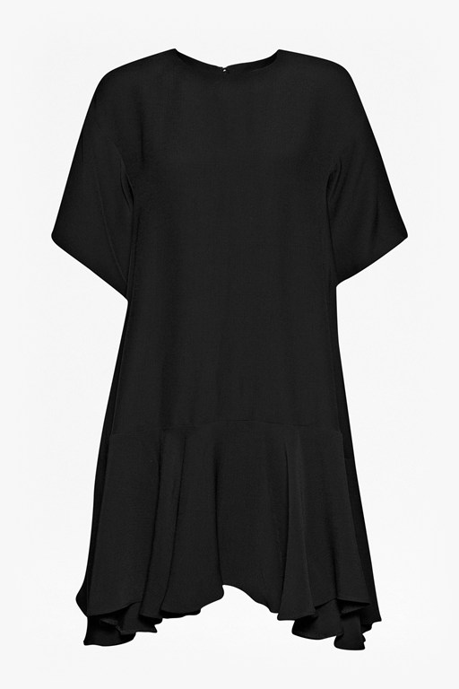 Complete the Look Downtown Frill Oversized Crepe Dress