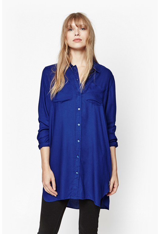 Cobalt Shirt Dress