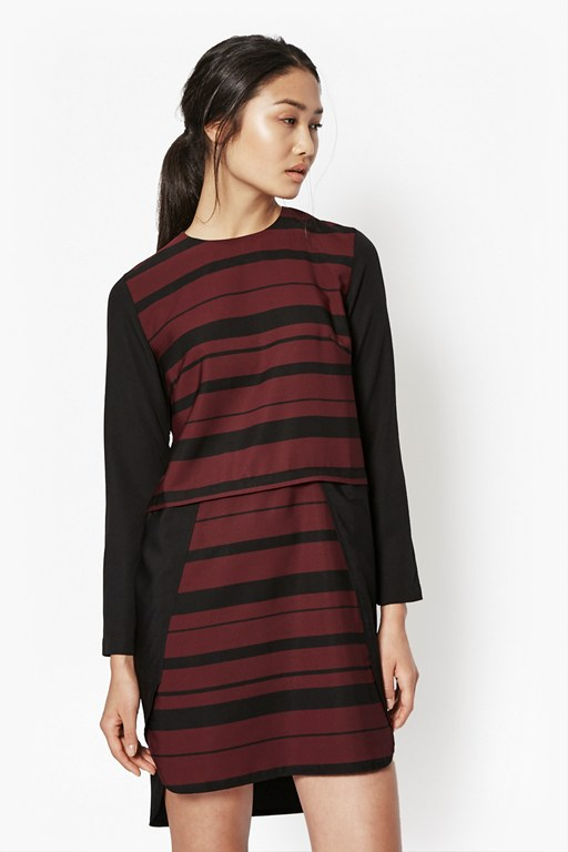 freida colour block dress