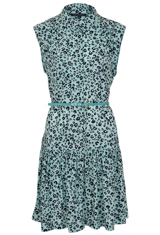 Cheetah Crepe Dress
