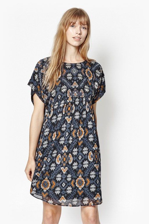 yoko embellished georgette dress