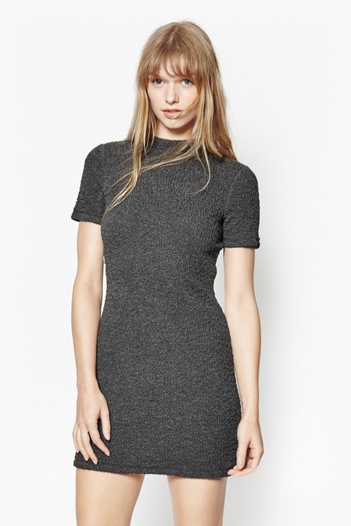 ripple jersey bodycon dress
