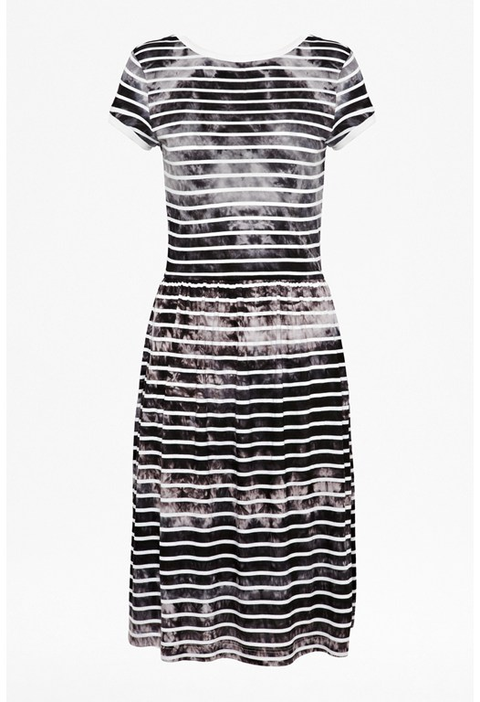 Amelia Striped Tee Dress