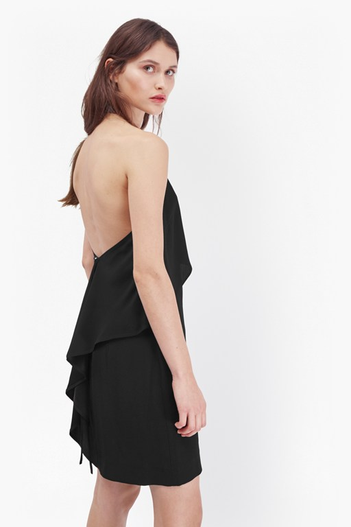 emma crepe layered dress