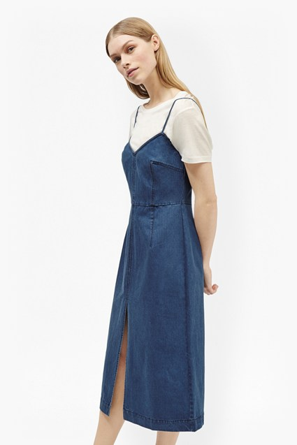 Riviera Denim Strappy Slip Dress
