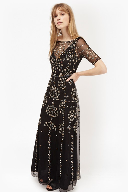 evie sparkle maxi dress