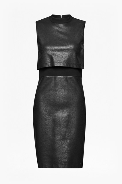 Cracked Earth Layered Jersey Dress