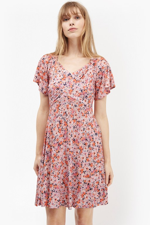 bacongo daisy floral skater dress
