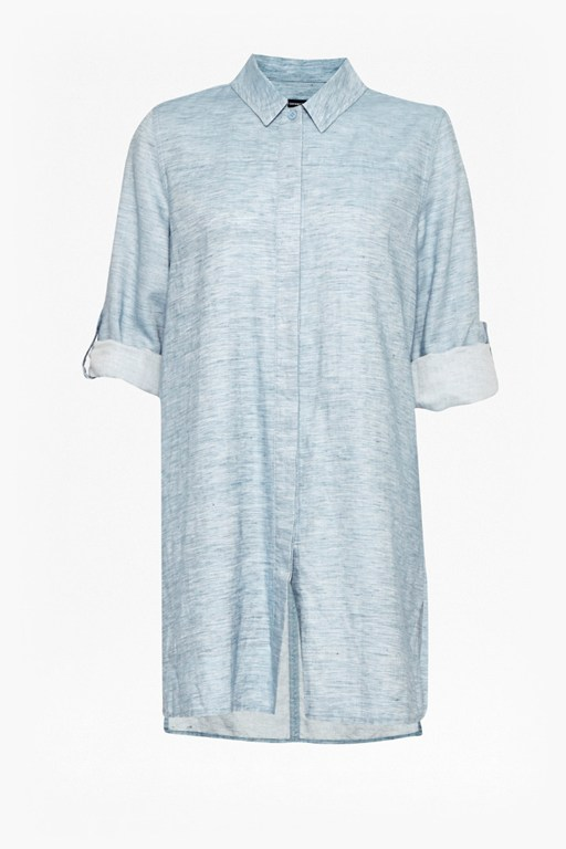 tencel chambray shirt dress
