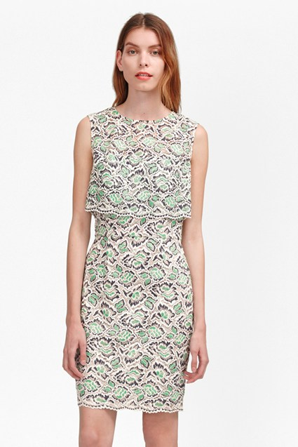 TALL Boccara Tiered Lace Dress