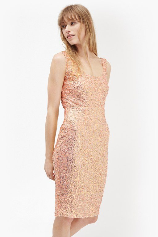 celia sequinned bodycon dress