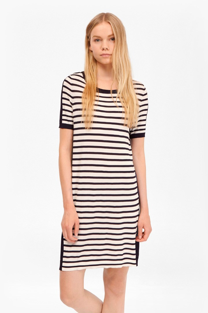 4bc2191f52a9 Cass Striped Jumper Dress. loading images.