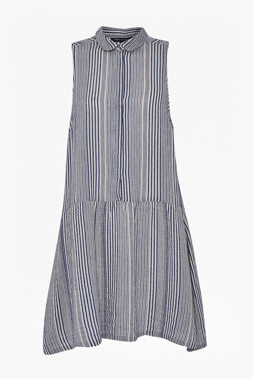 Complete the Look Serge Stripe Sleeveless Shirt Dress