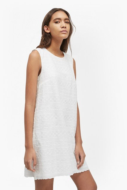 Bixa Broderie Scallop Trim Dress