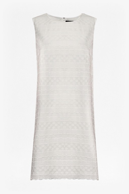 Complete the Look Bixa Broderie Scallop Trim Dress