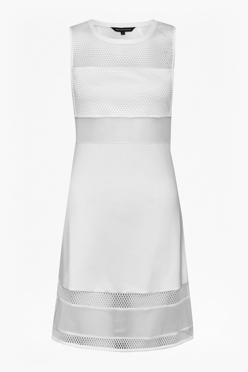 manhattan mesh panelled  dress