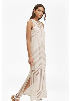 Alyssum Mesh Burnout Lace Maxi Dress